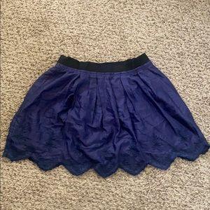 Zara Mini Skirt Embroidered Hem - Vintage